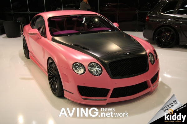 A Tuning Car Of Bentley Continental Gtgtc Speed Vitesse Rose