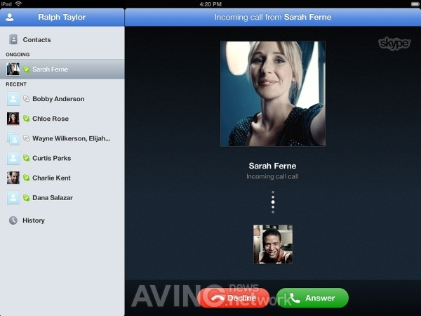 First Skype iPad-Optimized App to Launch AVING USA