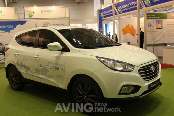 Hyundai motor rolled out its hydrogen for Motor vehicle department tucson